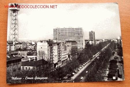 POSTAL DE MILANO - CORSO SEMPIONE - CIRCULADA CON FECHA AÑO 1958 Y SELLO (Postales - Postales Extranjero - Europa)