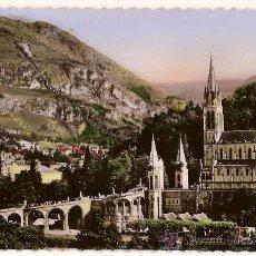 Postales: CARTE POSTALE 68 LOURDES LA BASILIQUE ET LE PIC DU JER EDIT P DOUCET FRANCIA. Lote 24041979