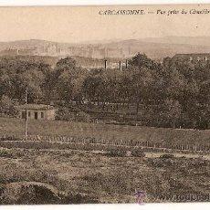 Postales: CARTE POSTALE CARCASSONNE VUE PRISE DU CIMETIÈRE SAINT-LAURENT. Lote 10341297