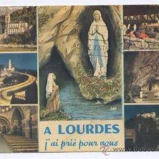 Postales: POSTAL LOURDES - VARIAS VISTAS - ED. DOUCET 1979. Lote 10350619