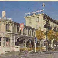 Postales: LAUSANNE (SUIZA) - HOTEL DE LAUSANNE. Lote 10553963
