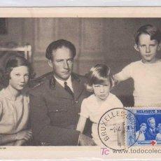 Postales: TARJETA MÁXIMA : LE ROI DES BELGES - BÉLGICA. 1939. ED PORTRAITS OFFICIELS. Lote 10894310