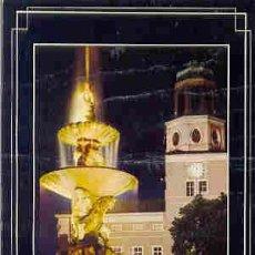 Postales: SALZBURG (AUSTRIA) - FONTAINE ET CLOCHER DE LA RESIDENCE. Lote 11268809