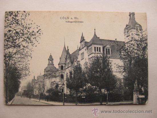 CÖLN A RH. VOLKSGARTENSTRASSE (Postales - Postales Extranjero - Europa)