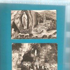 Postales: 2 ANTIGUAS POSTALES DE LOURDES. Lote 13611909