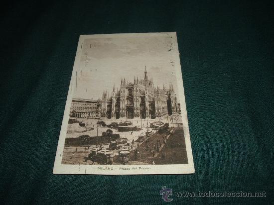 MILANO PIAZZA DEL DUOMO 1925 (Postales - Postales Extranjero - Europa)