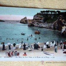 Postales: 67 BIARRITZ - LES BAINS DU PORT VIEUX ET LE ROCHER DE LA VIERGE. NO CIRCULADA. Lote 15305443