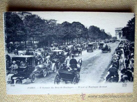 2940 PARIS - L'AVENUE DU BOIS-DE-BOULOGNE. ND. NO CIRCULADA (Postales - Postales Extranjero - Europa)