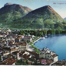 Postales: TARJETA POSTAL DE LUGANO (SUIZA) - LUGANO Y EL MONTE BRE. Lote 12753461