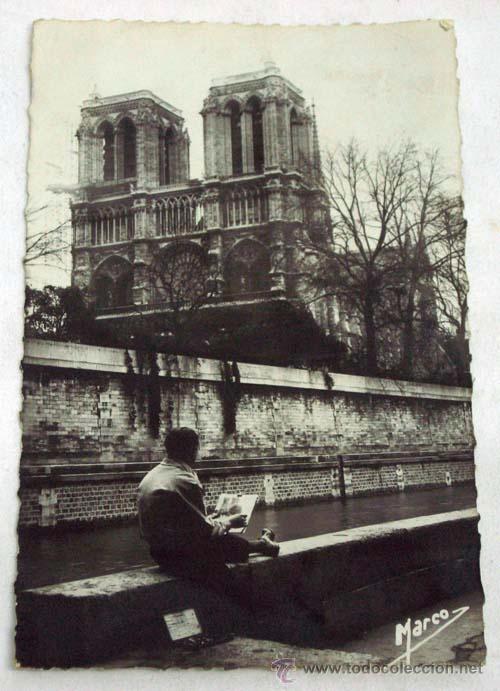 postal notre dame parís foto marco años 50 - Comprar Postales ...