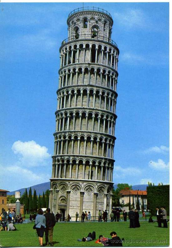 La Torre De Pisa Italia Postales Y Mucho Comprar