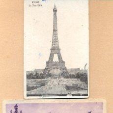Postales: POST 312 - 2 POSTALES PARIS: LA TORRE EIFFEL - LE PONT ALEXANDRE III - DOS POSTALES PARIS. Lote 14057686