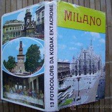 Postales: LIBRITO DE POSTALES CON 13 INSTANTANEAS DE MILAN EN FORMATO DESPLEGABLE. AÑOS 60-70. Lote 25462901