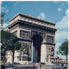 Postales: PARIS. ARCO DEL TRIUNFO. AÑO 1957. CIRCULADA. . Lote 26803602