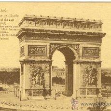 Postales: PARIS. ARC DE TRIOMPPHE DE L´ETOILE. AÑOS 20. ESCRITA. Lote 26803620