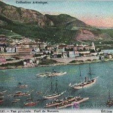 Postales: TARJETA POSTAL DE MONTECARLO (MÓNACO) - VISTA GENERAL, PUERTO DE MONACO. Lote 13366879