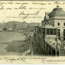 Postales: POSTAL BIARRITZ LE CASINO MUNICIPAL. Lote 13399396