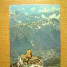 Postales: POSTAL CHAMONIX MONT BLANC L´AIGUILLE DU MIDI SIN CIRCULAR. Lote 13693412