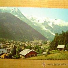 Postales: POSTAL CHAMONIX MONT BLANC (HITE - SAVOIE VUE GENERALE ET LA CHAINE DU MONT BLANC SIN CIRCULAR. Lote 13725289