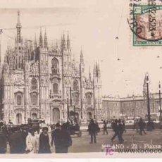 Postales: ANTIGUA POSTAL : ITALIA - MILANO - PIAZZA DEL DUOMO. Lote 13963791