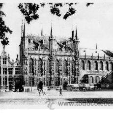 Postales: BRUGES (BELGICA) - LA JUSTICE DE PAIX, L'HOTEL DE VILLE ET BASILIQUE DU ST-SANG. Lote 14754942