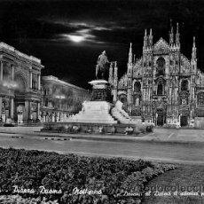 Postales: MILANO (ITALIA) - PIAZZA DUOMO (NOTTURNO). Lote 14812544