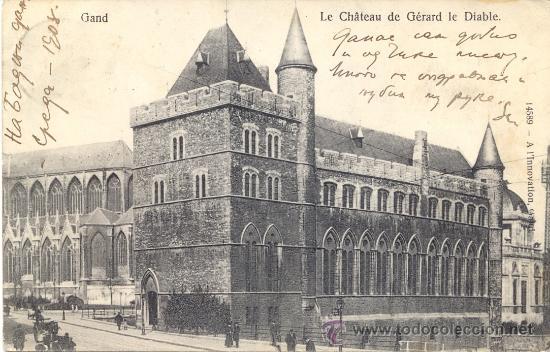 POST 363 - POSTAL SELLOS BÉLGICA - GAND : LE CHÁTEAU DE GERARD LE DIABLE - 1914 - 14589 GAND (Postales - Postales Extranjero - Europa)