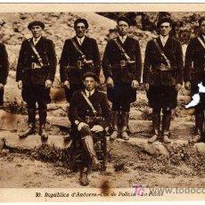 Postales: ANTIGUA POSTAL - ANDORRA - REPUBLICA D´ANDORRA - COS DE POLICIA - LA POLICE . Lote 22480739