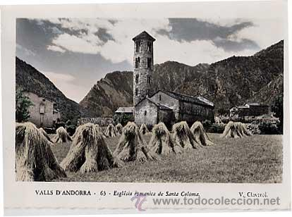 ANDORRA. ESGLÉSIA ROMANICA DE SANTA COLOMA. V. CLAVEROL. ESCRITA (Postales - Postales Extranjero - Europa)