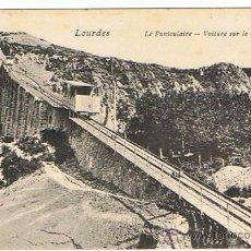 Postales: LOURDES, PUENTE PARA EL VIADUCTO DEL FUNICULAR SIN CIRCULAR, NUEVA.. Lote 26913001