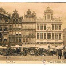 Postales: BRUSELAS - POSTAL MUY BUENA, TANTO COMO POSTAL, COMO POR SELLO Y RESELLO, FECHADA 1908, VER FOTOS. Lote 26557576