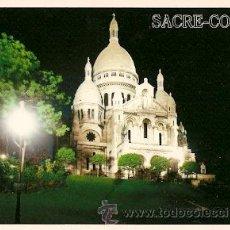 Postales: PARIS - LA BASILIQUE DU SACRE-COEUR ILLUMINEE. Lote 16161983