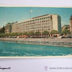 Postales: POSTAL HOTEL RHONE GENEVE 1954. Lote 27233866
