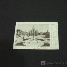 Postales: PRECIOSA TARJETA POSTAL - PIAZZA DEL DUOMO - MILANO - AGOSTO 1902 - . Lote 23644518