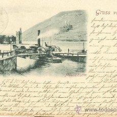 Postales: RECUERDO DEL RHIN. RHEIN. CIRCULADA EN 1897.. Lote 16277803