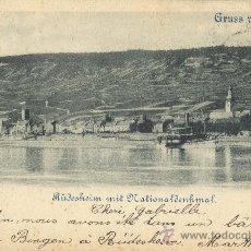 Postales: RECUERDO DEL RHIN. RHEIN. RÜDESHEIM. CIRCULADA EN 1899.. Lote 16307035