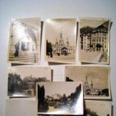 Postales: LOURDES - FRANCE - LOTE 8 FOTOGRAFIAS. Lote 16401928