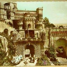 Postales: ANTIGUA POSTAL, SINTRA, PALACIO DE PENA, PORTUGAL, 1950S. Lote 16670017