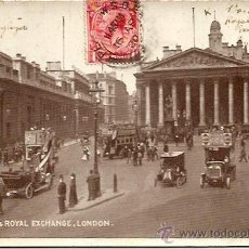 Postales: THE BANK & ROYAL EXCHANGE, LONDON - POSTAL CIRCULADA AÑO 1920. Lote 16869312
