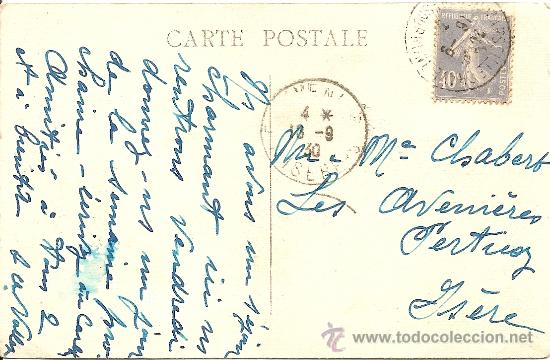 Postales: MARSEILLE (MARSELLA) PORTE D´AIX - POSTAL CIRCULADA AÑO 1920 - Foto 2 - 16869385