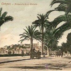 Postales: CANNES - PROMENADE DE LA CROISETTE - POSTAL CIRCULADA PRINCIPIOS SIGLO XX. Lote 16869541