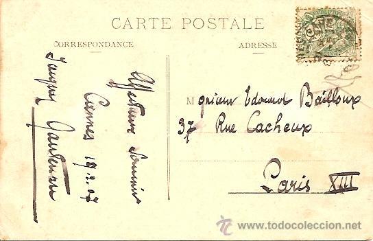Postales: CANNES - PROMENADE DE LA CROISETTE - POSTAL CIRCULADA PRINCIPIOS SIGLO XX - Foto 2 - 16869541