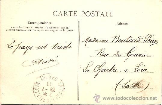 Postales: MORLAIX - LE GRANDE RUE, COTÉ DES VIEILLES HALLES - POSTAL CIRCULADA 1910 - Foto 2 - 16869751