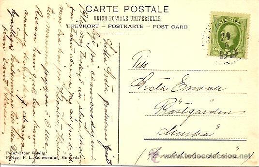 Postales: ALUNDA MUNKEDAL - POSTAL CIRCULADA PRINCIPIOS SIGLO XX - Foto 2 - 16870131