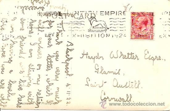 Postales: 107. THREE PROMENADES, N. SHORE, BLACKPOOL - POSTAL CIRCULADA 1924 - Foto 2 - 16870463