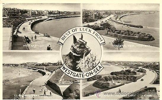 BEST OF LUCK FROM WESTGATE-ON-SEA - POSTAL CIRCULADA 1955 (Postales - Postales Extranjero - Europa)