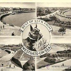 Postales: BEST OF LUCK FROM WESTGATE-ON-SEA - POSTAL CIRCULADA 1955. Lote 16870550