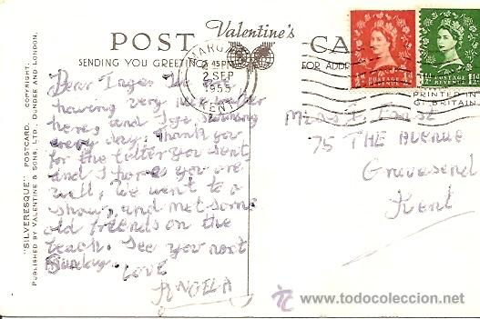 Postales: BEST OF LUCK FROM WESTGATE-ON-SEA - POSTAL CIRCULADA 1955 - Foto 2 - 16870550