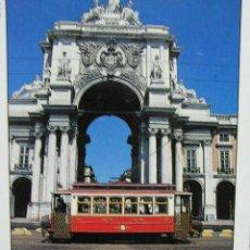 Postales: POSTAL DE LISBOA PORTUGAL, CON TRANVIA. Lote 16882131