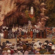 Postales: LOURDES - LA GRUTA - POSTAL 1935 - PRECIOSA FOTO. Lote 16899276